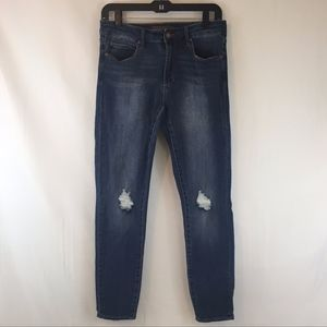 Leith  |  Mid-rise Distressed Skinny Ankle, sz 28